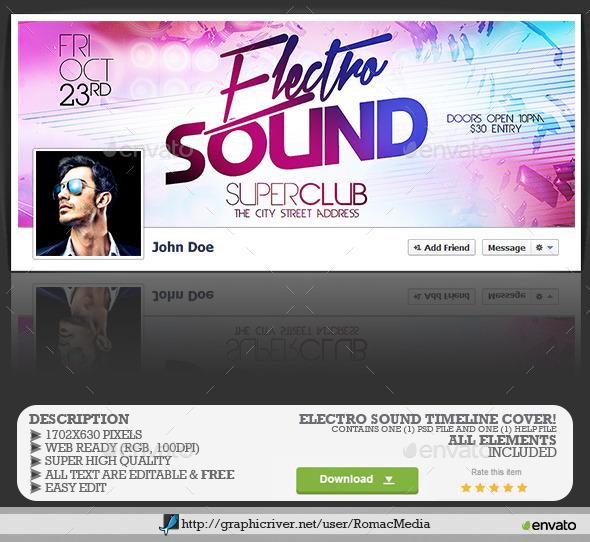 Electro Sound Facebook Timeline Cover - Facebook Timeline Covers Social Media
