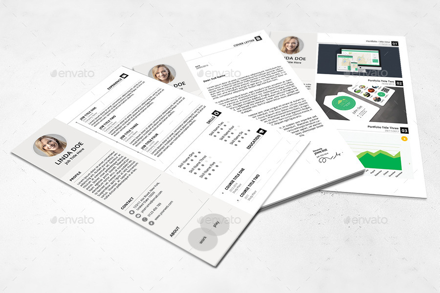 3 pages pro resume by yordstudio