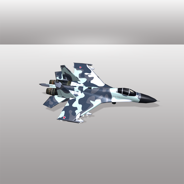 Su 30 Aircraft  - 3DOcean Item for Sale