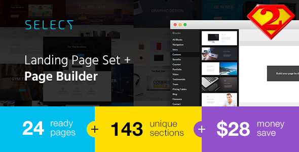 Select – Landing Page Set with Page Builder