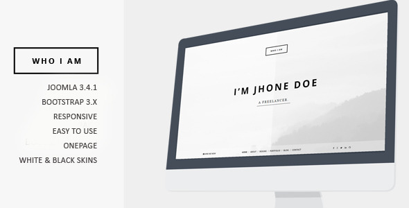 Who I am – Resume and Portfolio Joomla Template