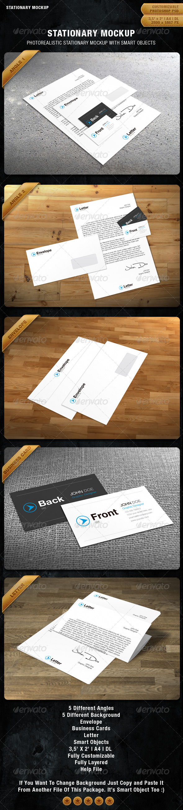 Stationary Mockup - Stationery Print