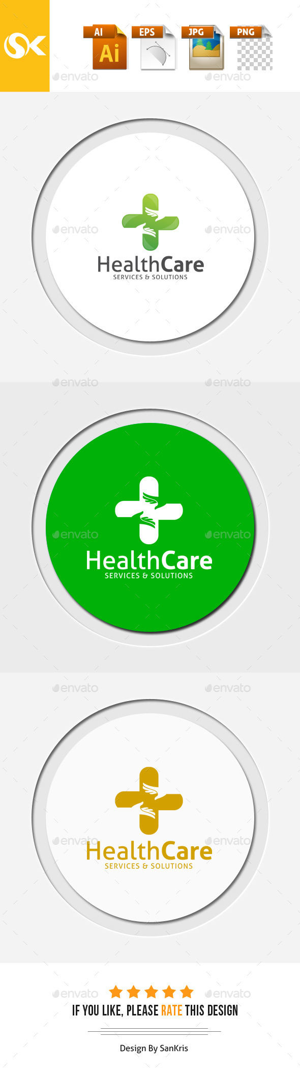 Health Care - Symbols Logo Templates