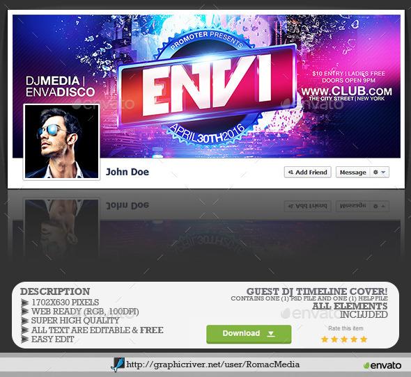 Guest DJ Facebook Timeline Cover - Facebook Timeline Covers Social Media