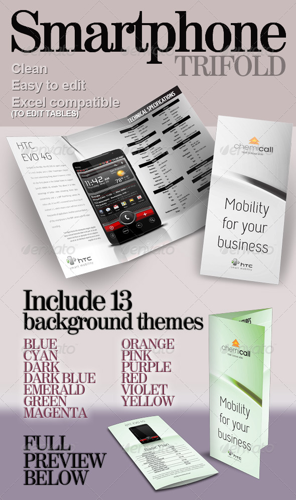 Smartphone Trifold - Corporate Brochures