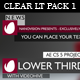 Clear Lower Third Pack 1 - VideoHive Item for Sale