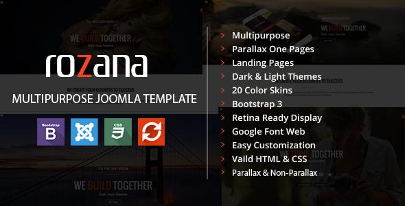 Rozana - Responsive MultiPurpose Joomla Template - Corporate Joomla