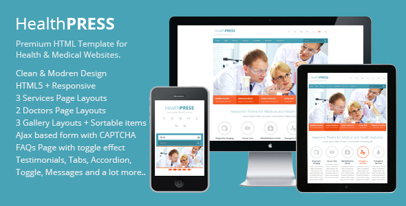 HealthPress – Health and Medical HTML Template