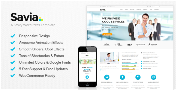 Savia – Responsive Multi-Purpose WordPress Theme