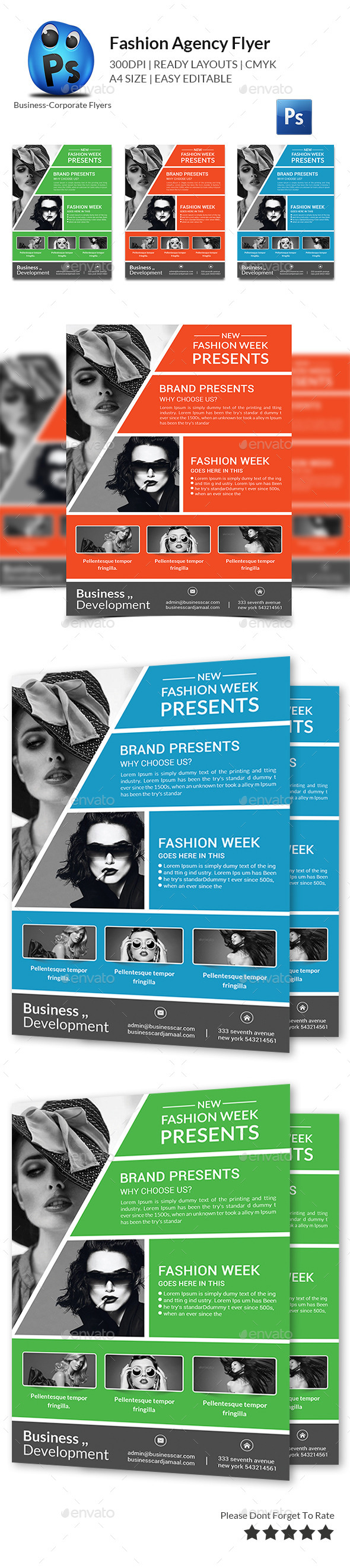 Fashion Agency Flyer Print Templates - Corporate Flyers