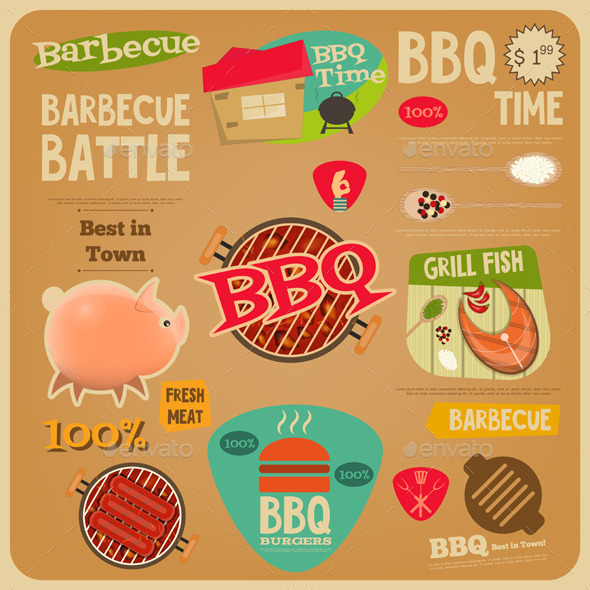 BBQ Card - Food Objects