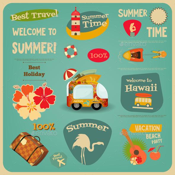 Summer Travel Card - Travel Conceptual
