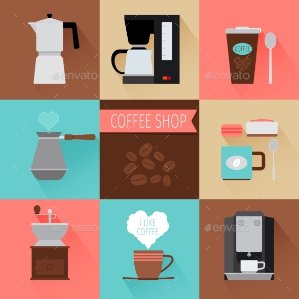Coffee Flat Icons - Miscellaneous Vectors