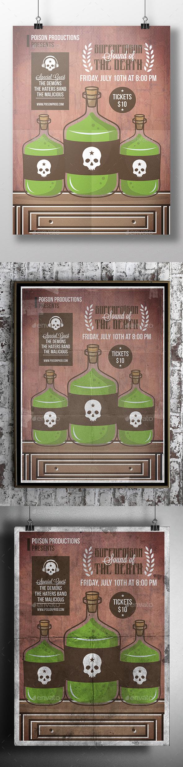 Poison Bottle Flyer Template - Concerts Events