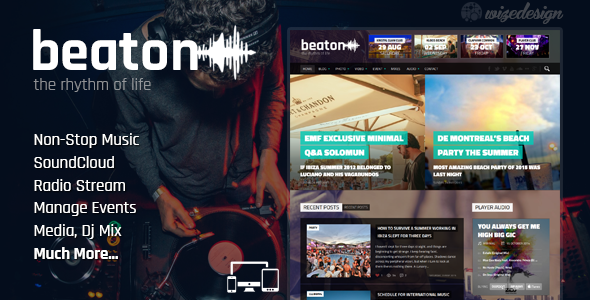 Beaton – Music, Radio & Events WordPress Theme