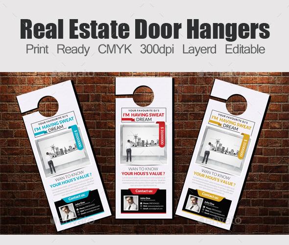 Real Estate Door Hangers Template - Miscellaneous Events