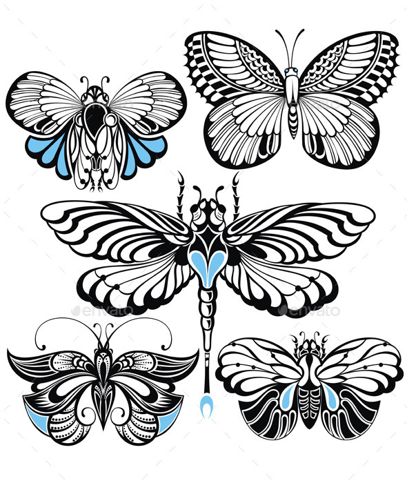 Butterfly Set - Decorative Symbols Decorative
