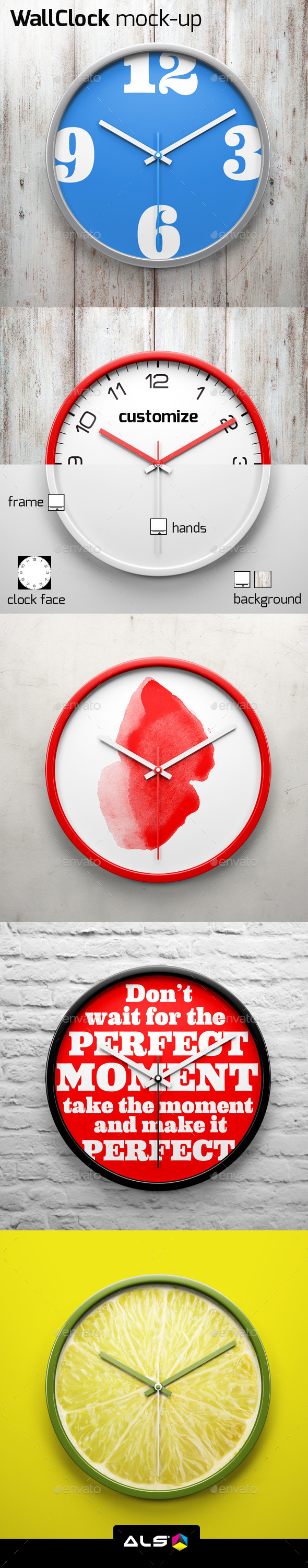 Wall Clock Mock-up - Miscellaneous Print