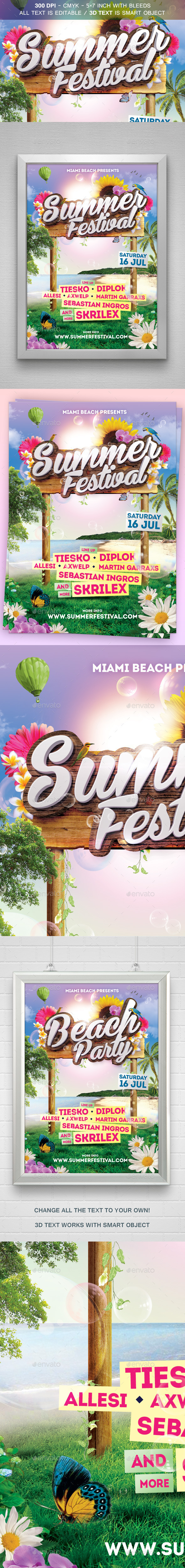 Summer Festival Flyer - Flyers Print Templates