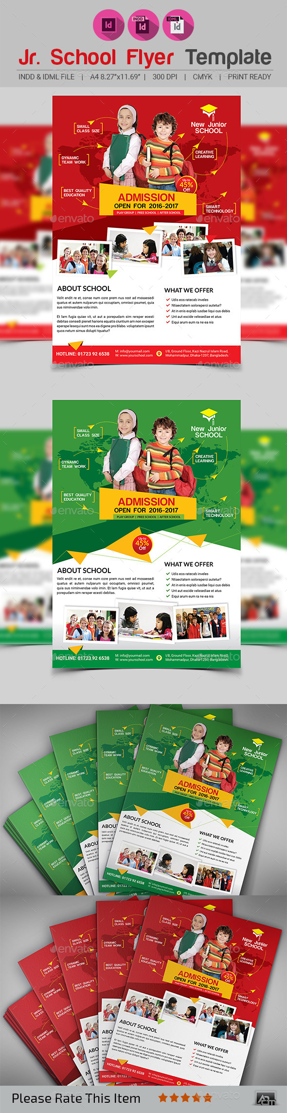 Junior School Promotion Flyer - Corporate Flyers