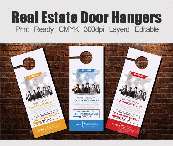 Corporate door hangers template by designhub719 graphicriver corporate door hangers template miscellaneous print templates maxwellsz