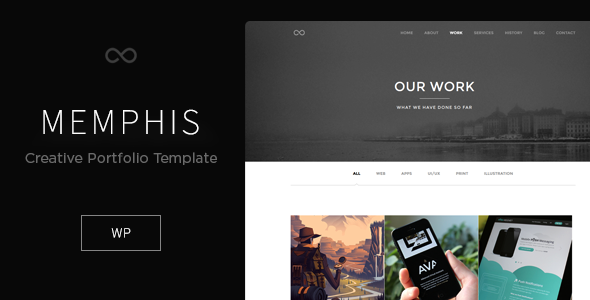 Memphis – Minimal Creative WordPress Theme