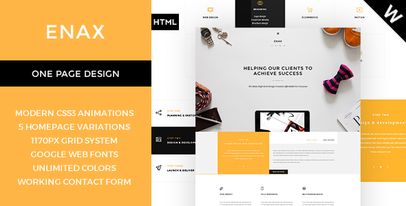 Enax – A Stylish and Modern Corporate Theme