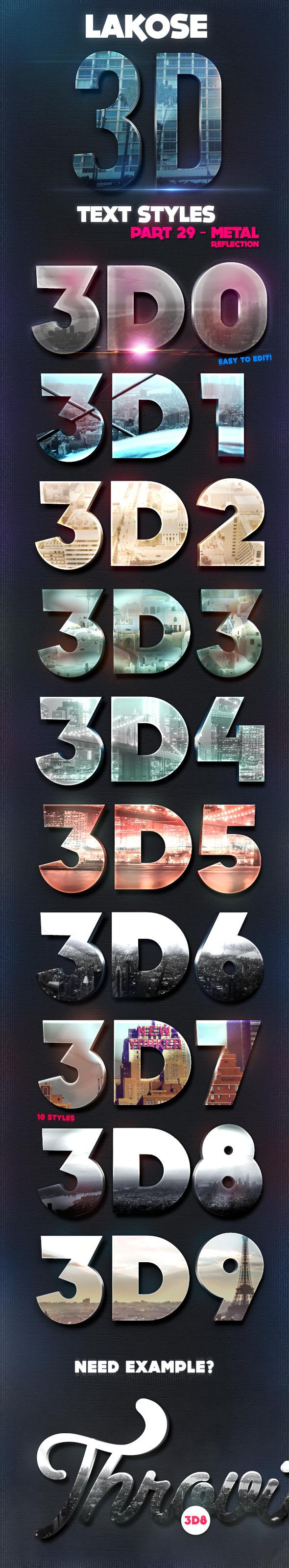 Lakose 3D Text Styles Part 29 - Text Effects Styles