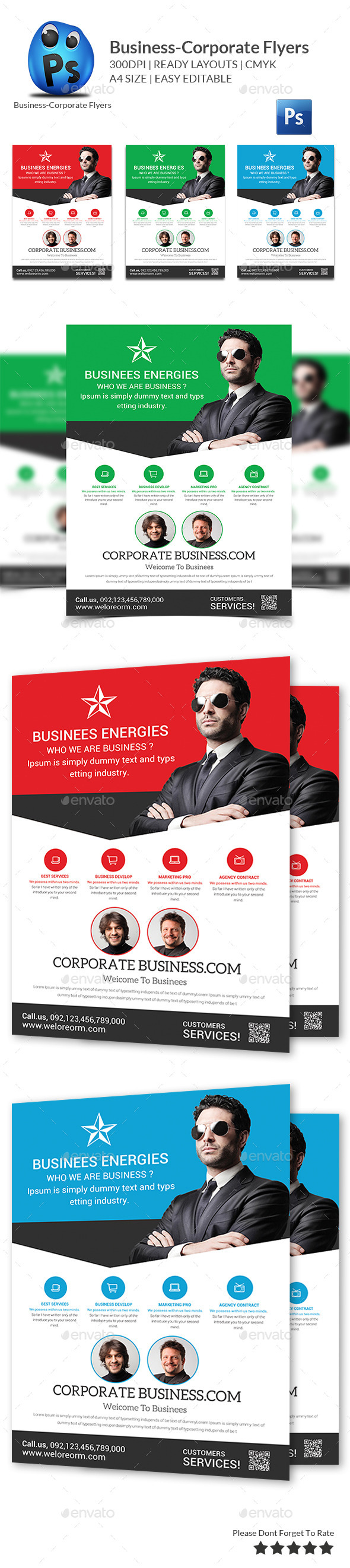 Business Planner Flyers Templates  - Corporate Flyers