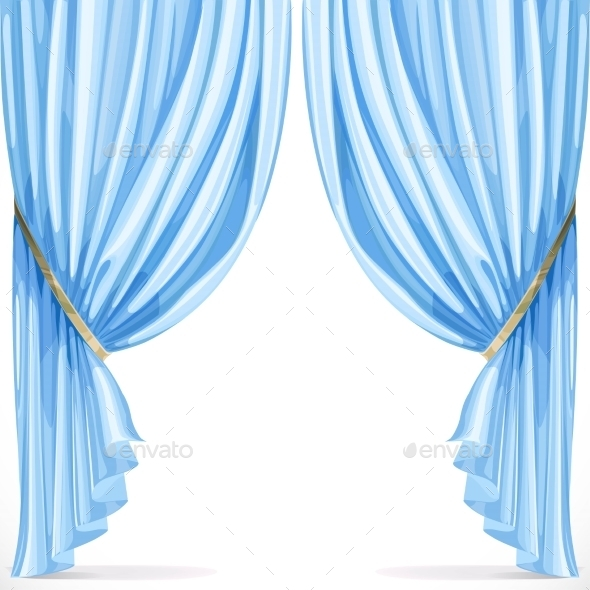 Blue Curtain - Man-made Objects Objects