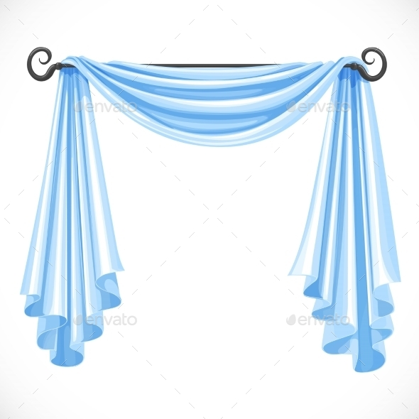 Blue Curtains - Man-made Objects Objects