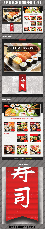 Sushi Restaurant Menu Flyer V06