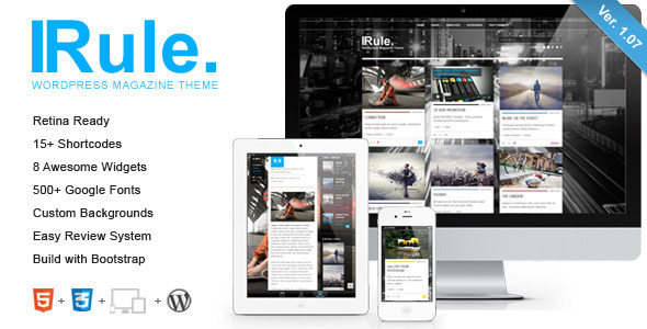Rule – Retina Responsive WordPress Theme