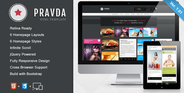 Pravda - Responsive Retina HTML Template - Title Theme