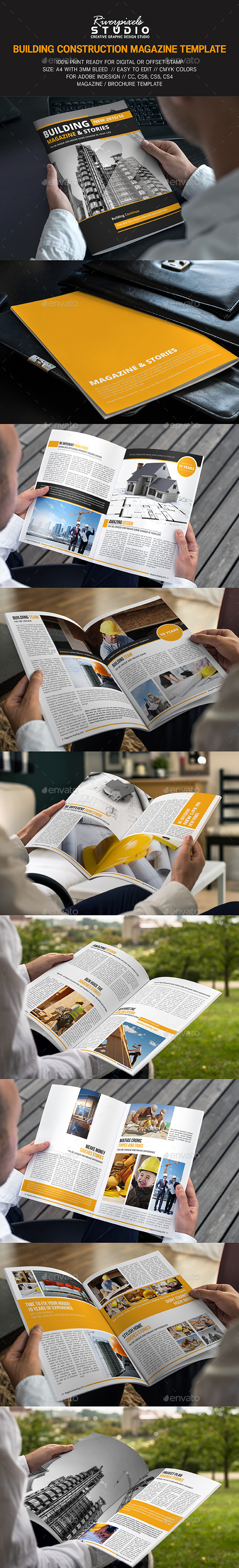 Building Construction Magazine - Magazines Print Templates