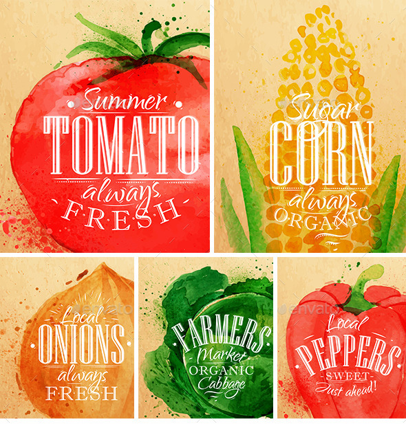 Poster Vegetables - Food Objects