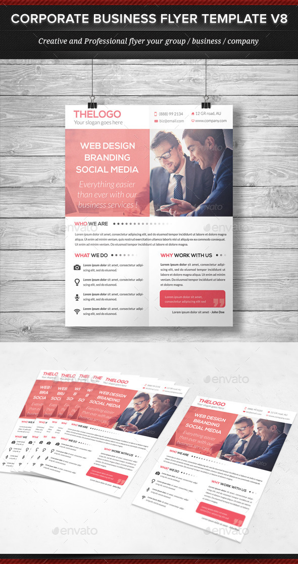 Corporate Business Flyer Template V8 - Corporate Flyers