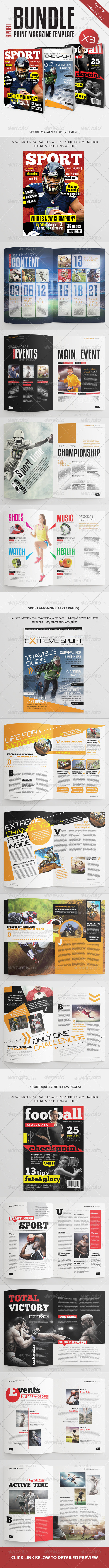 Sport Magazine Bundle Vol3 - Magazines Print Templates