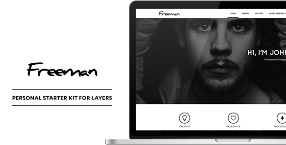 Freeman - Personal CV & Resume Style Kit - CodeCanyon Item for Sale