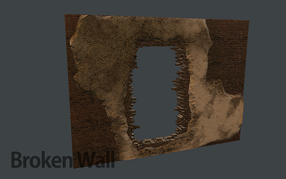 Broken Brick Wall - 3DOcean Item for Sale