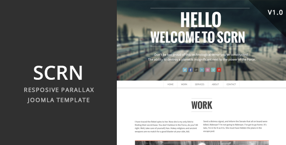 Image of SCRN - Responsive Parallax Joomla Template