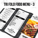 Tri Fold Food Menu - 3 - GraphicRiver Item for Sale