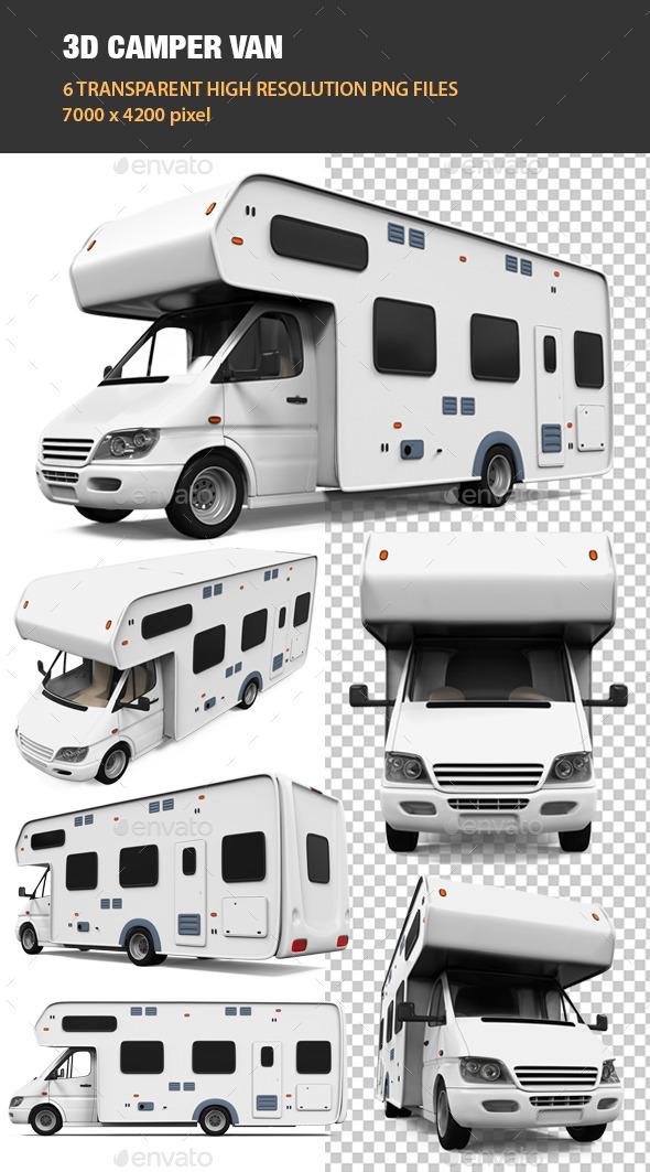 3D Camper Van - Objects 3D Renders