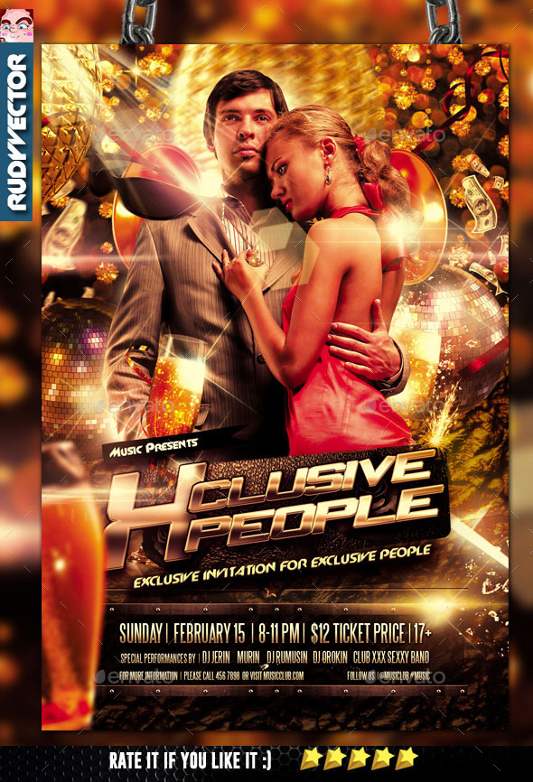 Exclusive People Party Flyer - Clubs & Parties Events