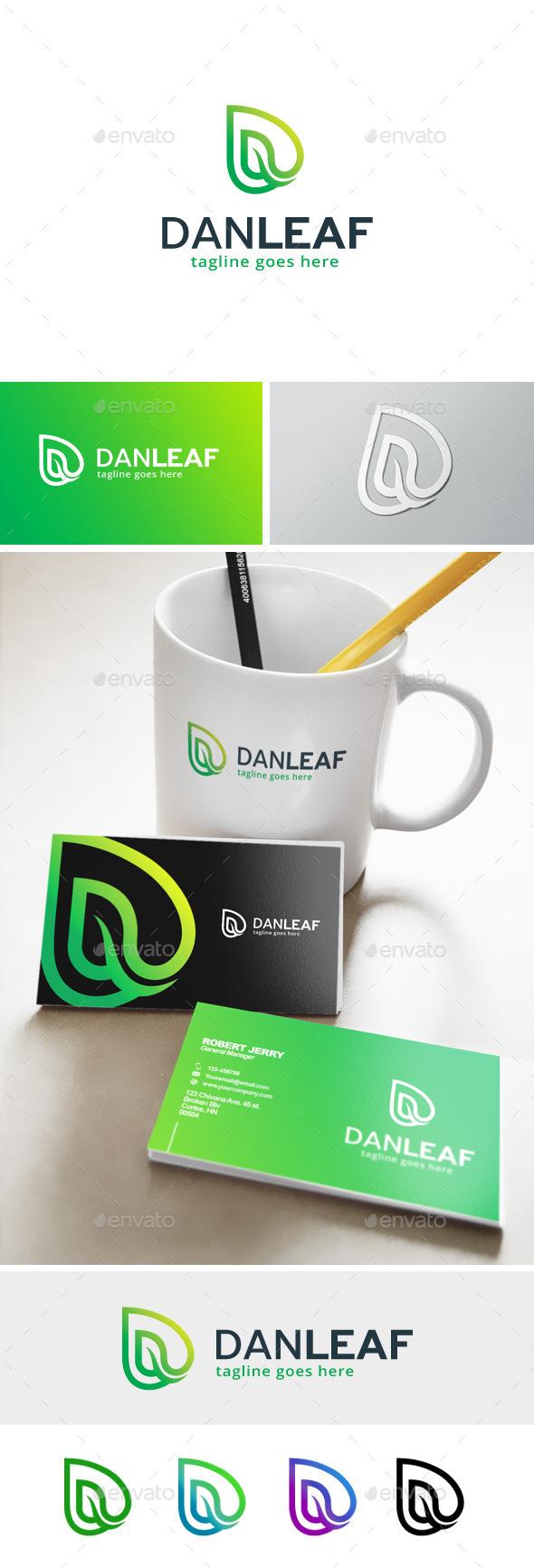 Letter D Logo - Danleaf - Letters Logo Templates