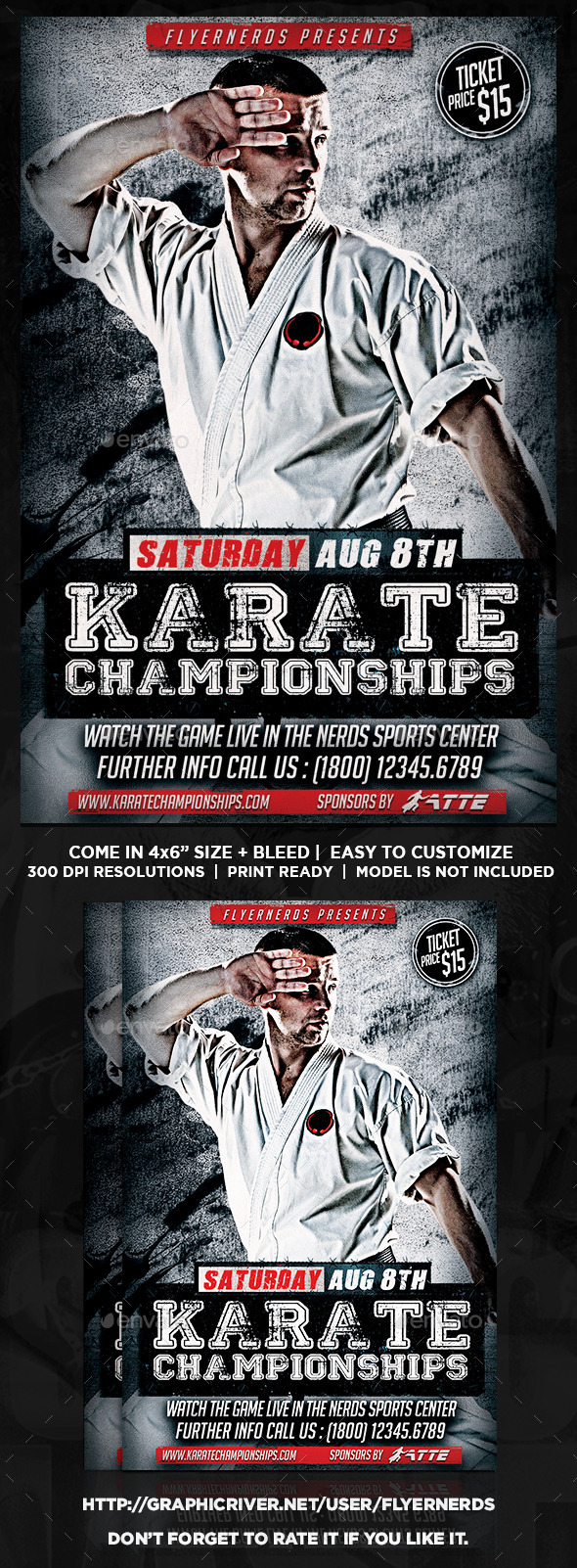 Karate Championships Sports Flyer - Sports Events