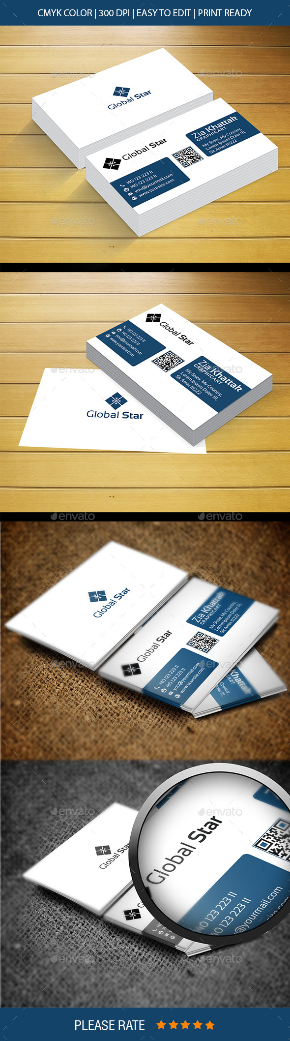 Global Star Vol-20 Business Card - Corporate Business Cards