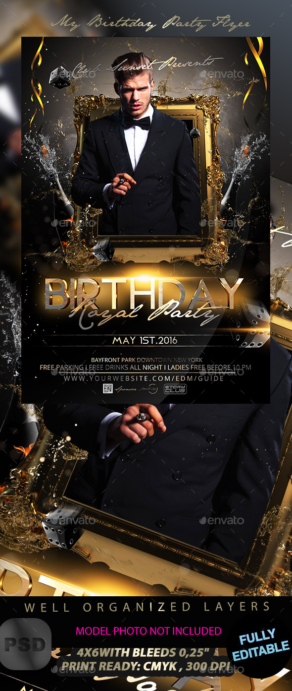 My Birthday Party Flyer - Events Flyers