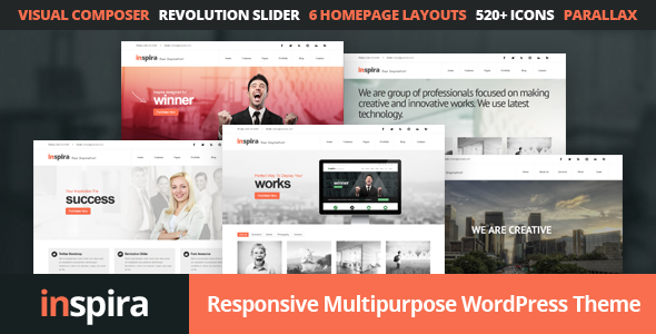 Inspira – Responsive Multipurpose WordPress Theme