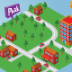 Isometric Small Map - GraphicRiver Item for Sale